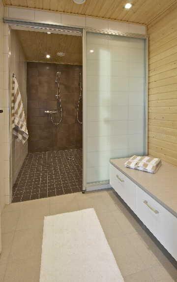Tyylikäs, moderni kylpyhuoneen sisustus