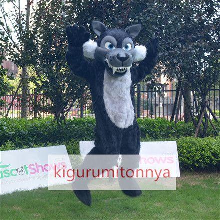 狼着ぐるみ メーカー直販 http://www.kigurumitonnya.jp/animal/wolf-mascot-costumes/animal-series-plush-black-wolf-mascot-adult-costume.html