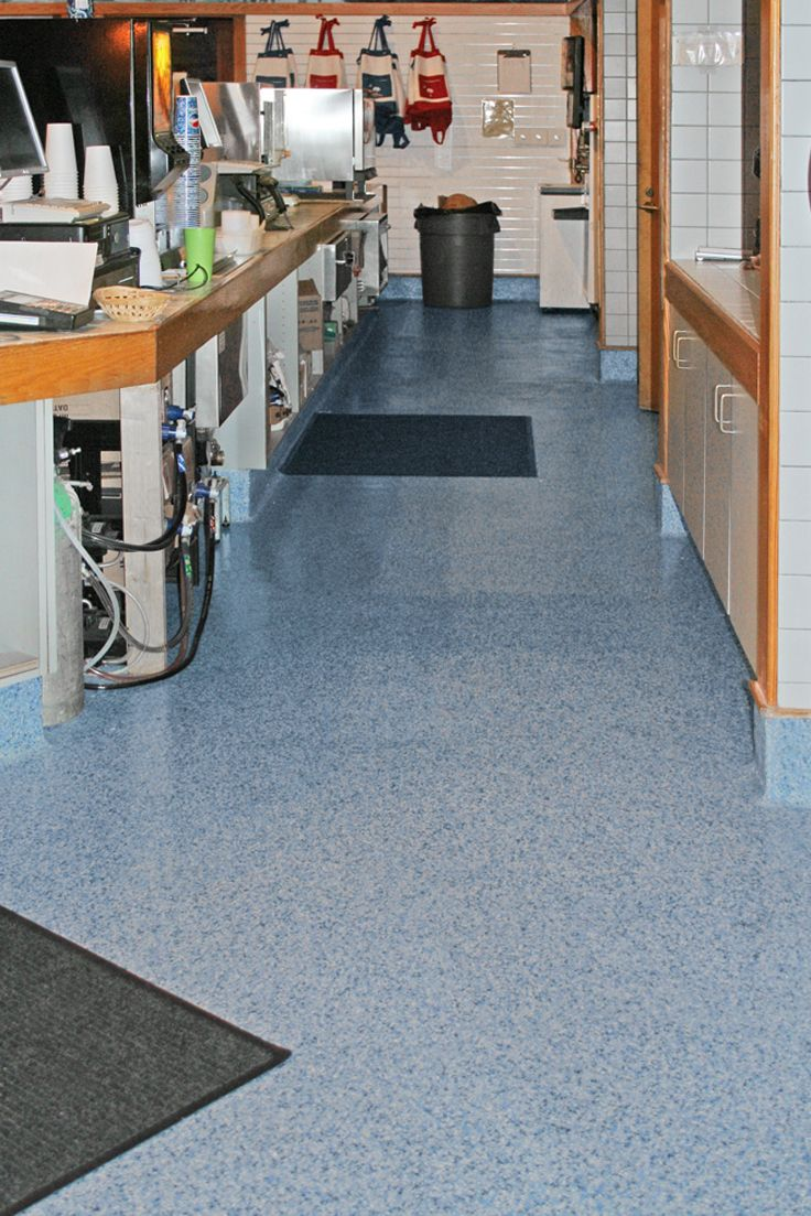 Restaurant And Foodservice Floors Are Often Coated In Grease And Oil Making Them Prone To Causing Slip And Fa Kitchen Flooring Epoxy Floor Commercial Flooring