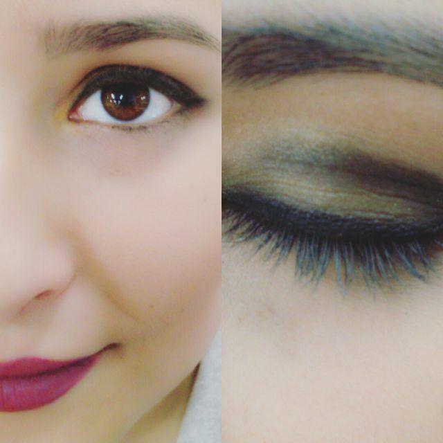 Leccion del jueves: Arco cerrado. #makeup #arcocerrado #maquillajedenoche #nightmakeup #brownsadows #marron #dorado #eyes #sangrialips #lips #lipstick #modulomaquillaje #fp #fpcaracterizacion #lightroom