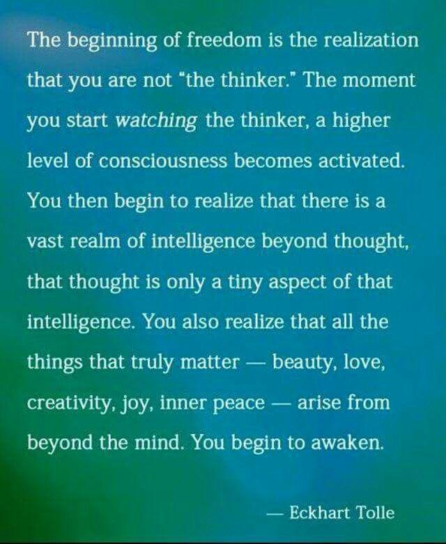 Watching the thinker