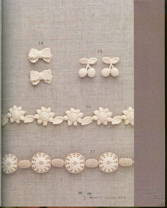 crochet edgings  @Af's collection mini motifs & flowers