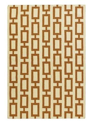 -41,100% OFF Hand Woven Natural Wool Flatweave Kilim, Cream, 5' 3