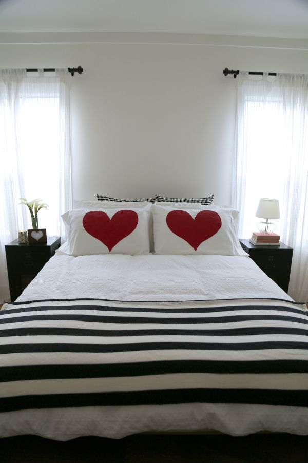Painted Heart Pillow Cases