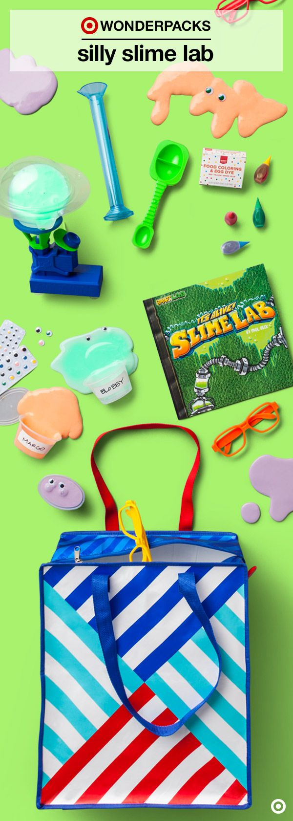 Get your hands dirty with some seriously silly science experiments. In this Silly Slime Lab Wonderpack, kids get their summer STEM activity fix in the most fun way possible! Zipped into a handy tote is almost everything you need to concoct and invent, including an activity book full of instructions, inspiration and ideas.  Click to find out more about Silly Slime Lab, and discover new Wonderpacks for endless summer fun. Get them before they're gone!
