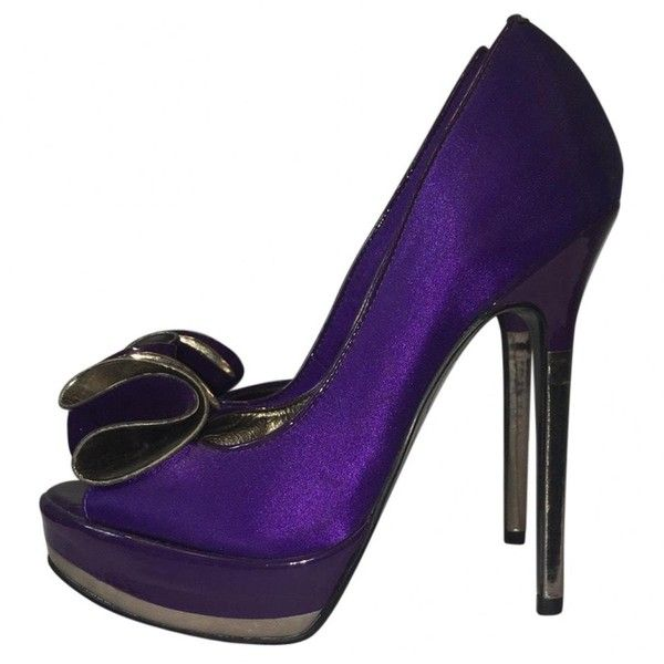 Pre-owned Kurt Geiger Heels (345 SEK) ❤ liked on Polyvore featuring shoes, pumps, purple, women shoes heels, purple pumps, kurt geiger pumps, purple shoes, pre owned shoes and kurt geiger shoes