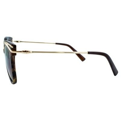 Women's Cat Eye Sunglasses with Smoke Lenses and Gold Trim - Gold/Tort, Brown