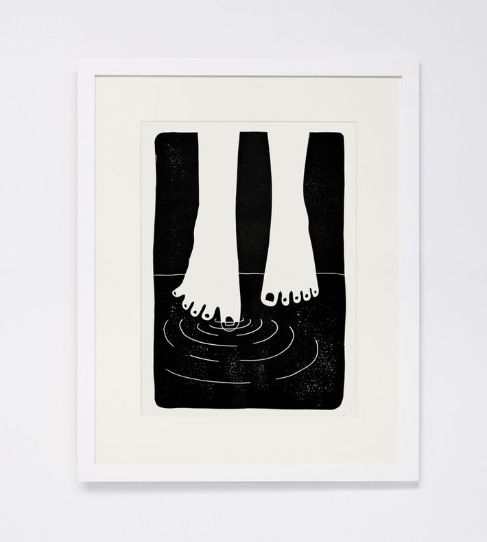 This linocut print is one of 50.  Numbered and signed by the artist. You can buy this original piece at www.artrebels.com #artrebels #art #limitededition