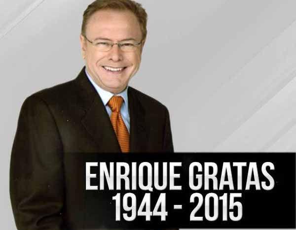 """Fallece periodista y expresentador del programa """"Ocurrió Así"""" Enrique Gratas"""