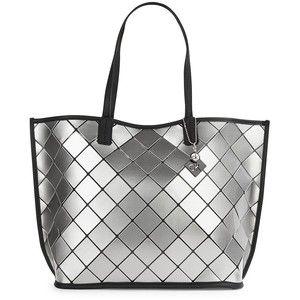 Calvin Klein Faux Leather Diamond Tile Tote
