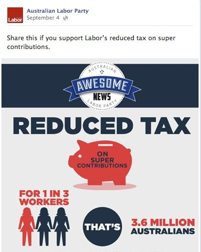 Labor's post about tax