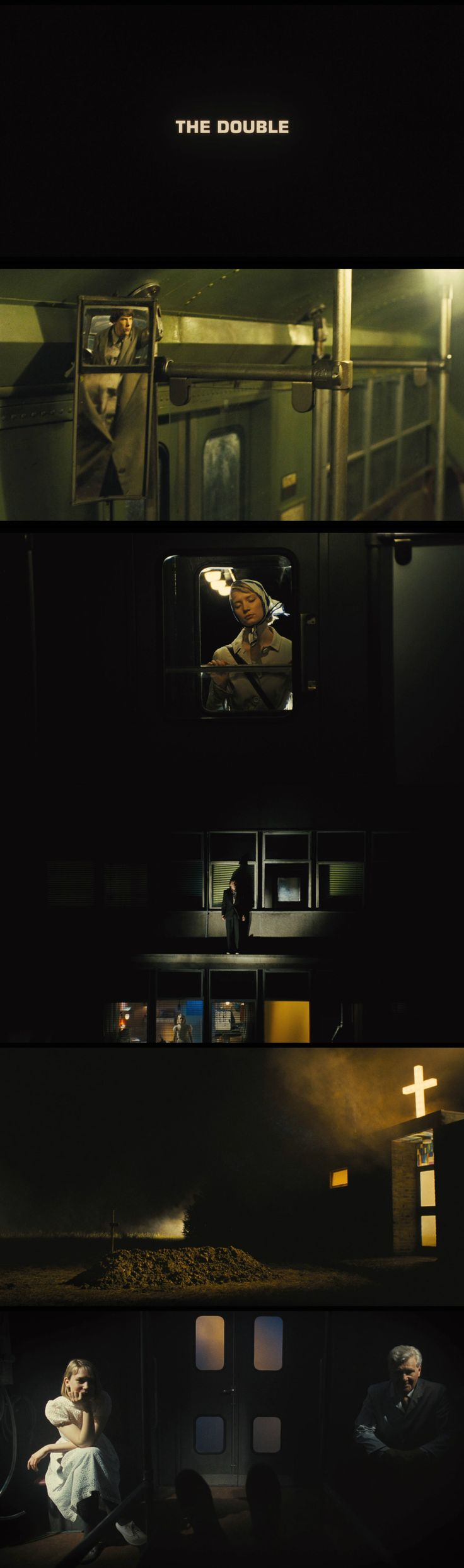 The Double (2013)  Directed by: Richard Ayoade Cinematography: Erik Wilson