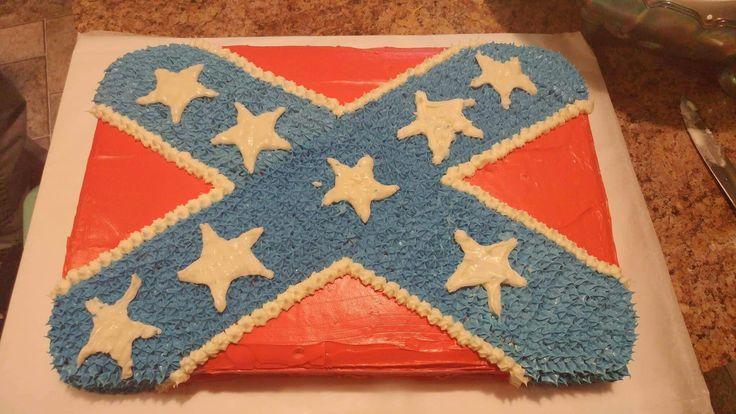 Rebel Flag Birthday Cake