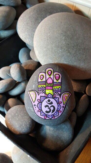 Mandala stone Hamsa