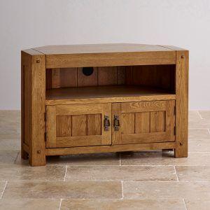 Windsor Brushed Solid Oak Corner Tv Cabinet