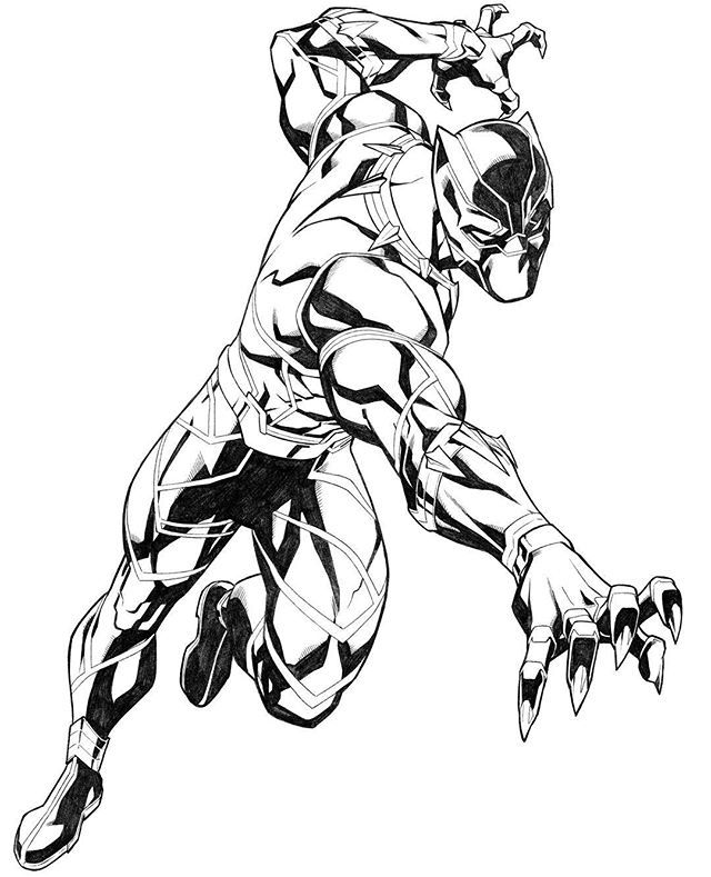 black panther marvel coloring pages coloring page. Black Bedroom Furniture Sets. Home Design Ideas