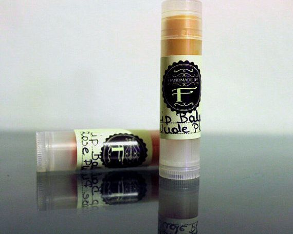 Plum flavor lip balm with cocoa butter and by HandmadebyFotini