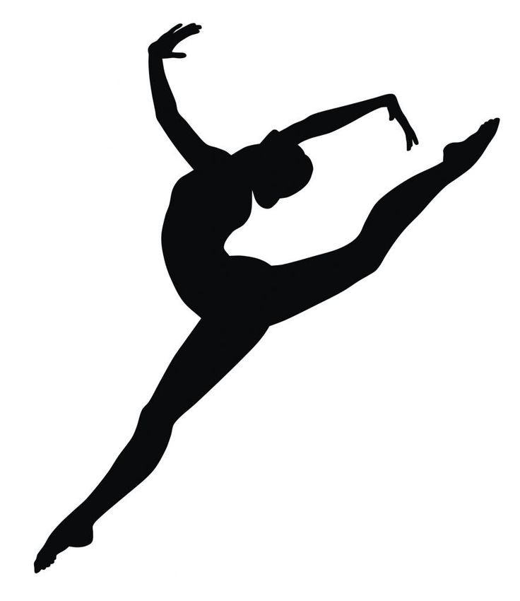 Different Types of Leaps | Details about Gymnast Silhouette Vinyl Wall Art Sticker Gymnastics ...