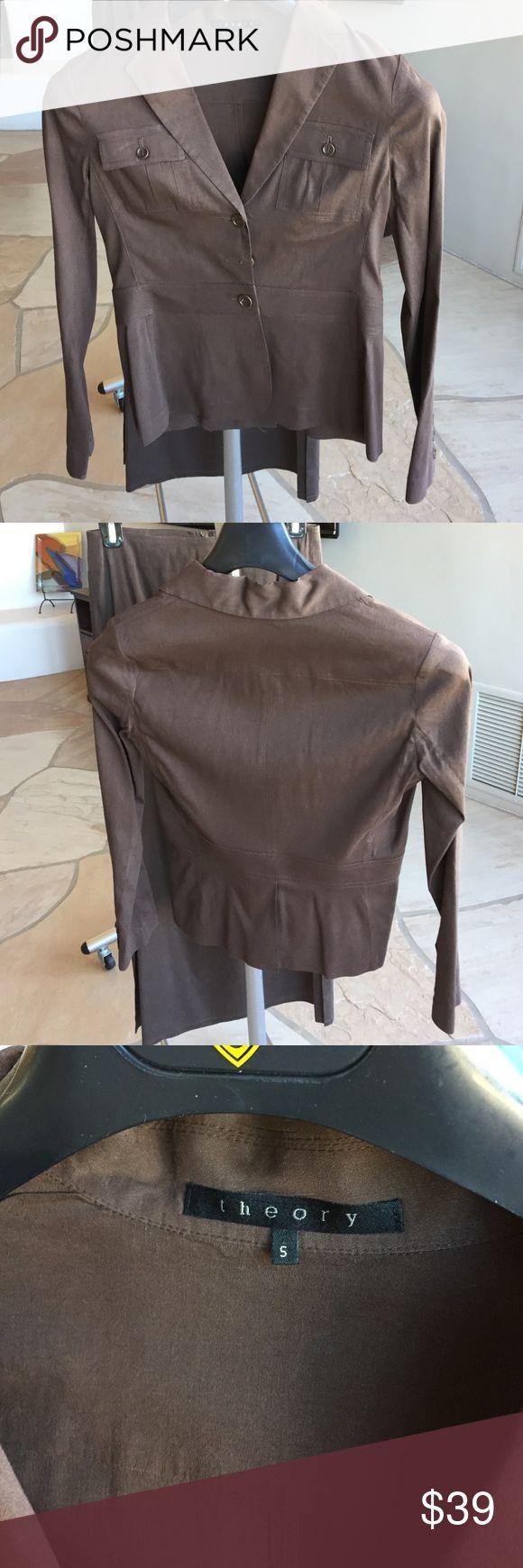Safari style blazer Lightweight blazer. Banded @waist. Matching midi-length skirt available. Make it a suit! Theory Jackets & Coats Blazers