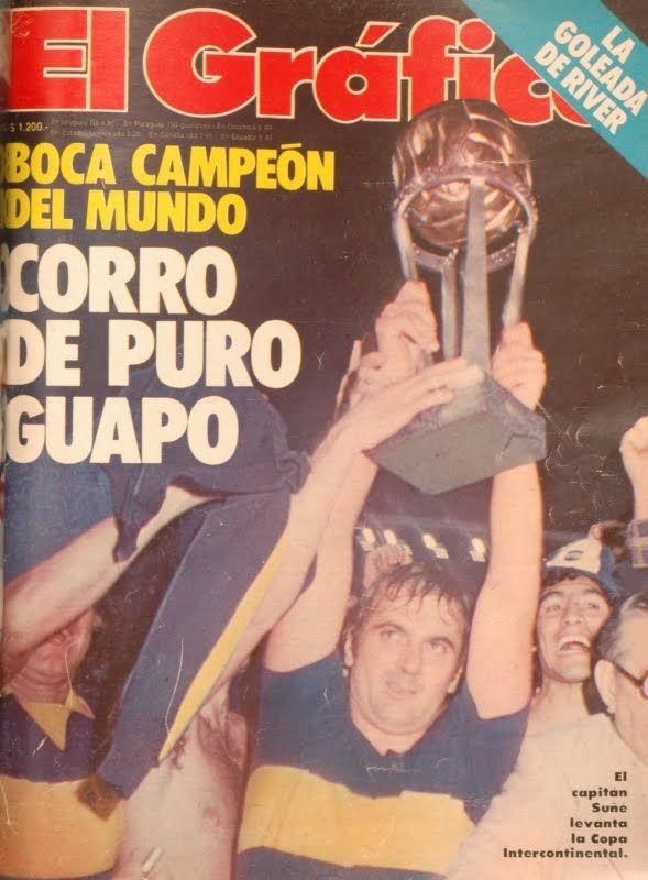 Suñè con la copa -Boca Juniors Campeon del Mundo - El gràfico-