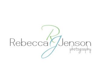 Handwritten Initials Logo and Watermark  Photography  Logo