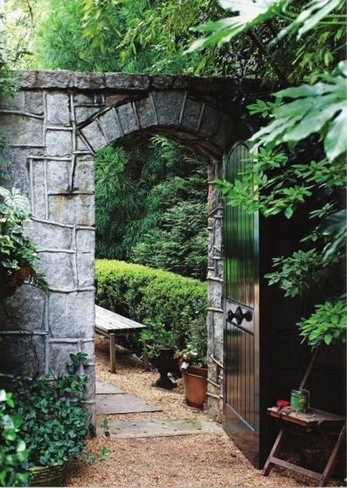 Garden door--