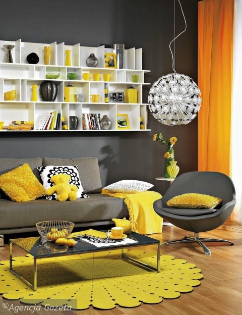 my grey & yellow obsession living room so mod