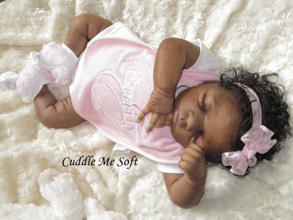 SOLD / ADOPTED -Beautiful Ethnic / AA Reborn Baby For Sale.  For more photos and details visit www.cuddlemesoft.com