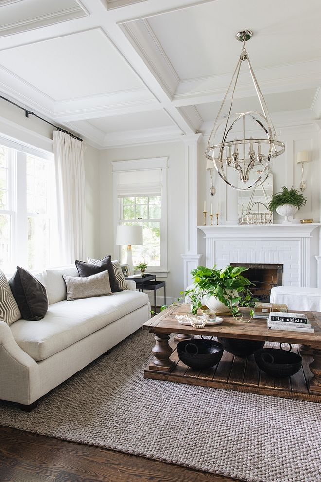 Best Classic Gray By Benjamin Moore Living Room With Trim And 400 x 300