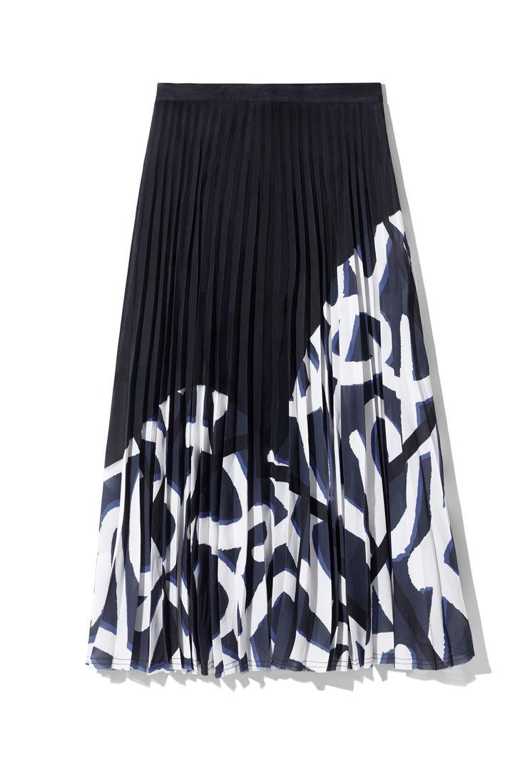 H&M Studio AW 2017 printed skirt falda de tablas estampada