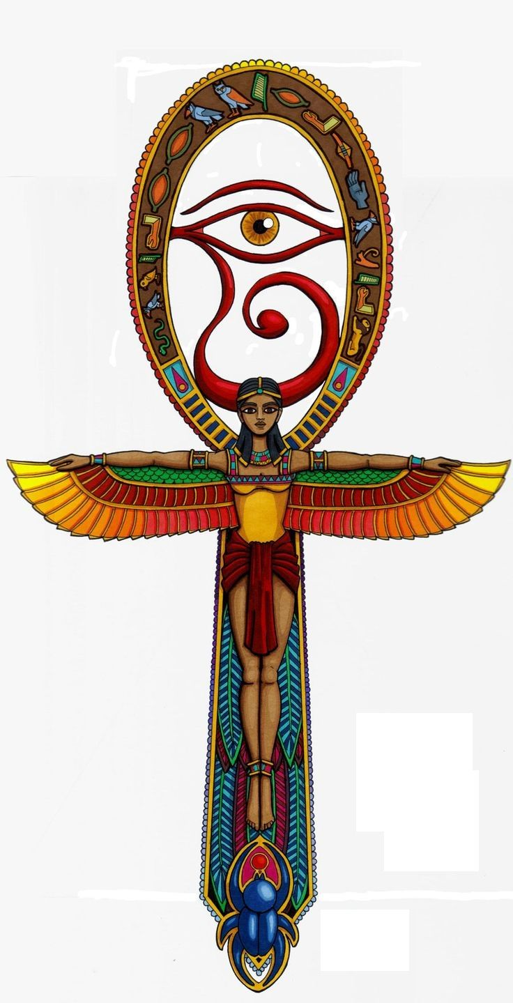 """Shaped as a cross with a circle (loop) for the top part, the ankh is the most commonly used symbol among the ancient Egyptian symbols. Many Egyptian gods, Isis in particular, were depicted holding the ankh in numerous inscriptions.Also known as crux ansata, which means """"the cross with a handle"""" in Latin, the ankh symbol is"""