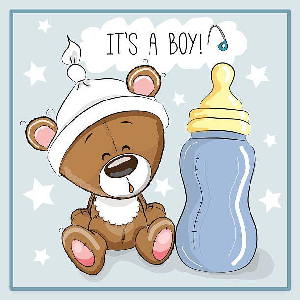 Cute Cartoon Teddy Bear With Feeding Bottle Ursinho Para Bebe