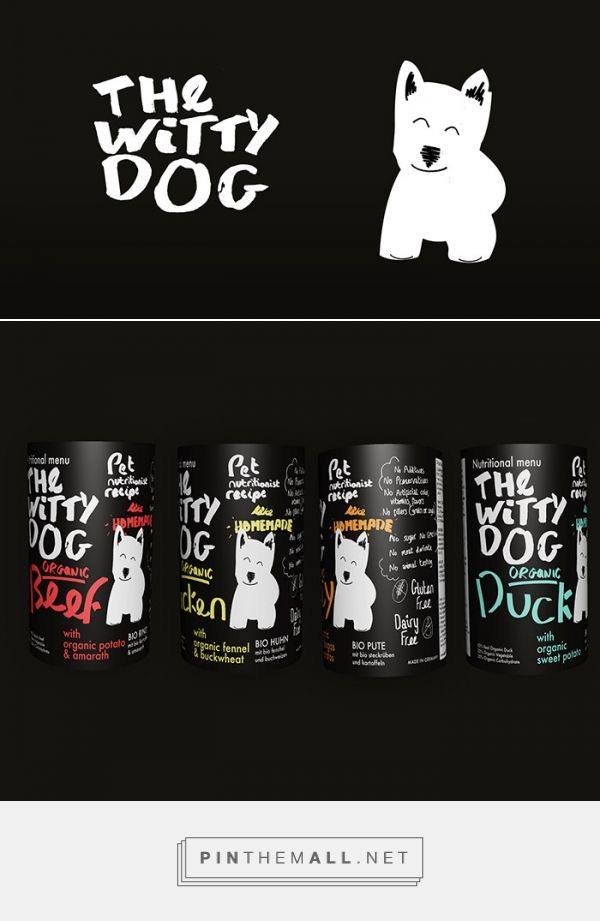 The Witty Dog organic dog food by Alan Trott. Source: Daily Package Design Inspiration. #SFields99 #packaging #design