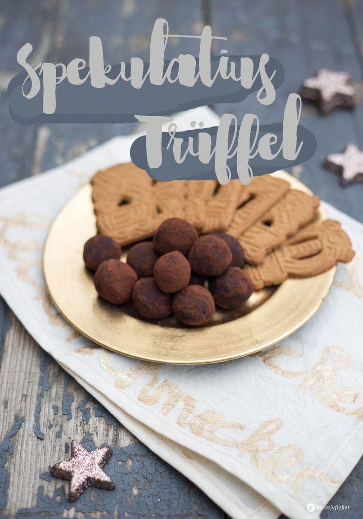Einfache Geschenkidee aus der Küche: Spekulatius Trüffel selbermachen. Die leckeren Pralinen sind ruckzuck gemacht und schmecken schön weihnachtlich!