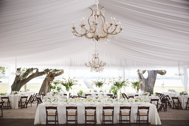 Courtney & Richard's beautiful Lowndes Grove Plantation | Wedding Decor | Charleston, SC | Photo by Amelia & Dan Photography
