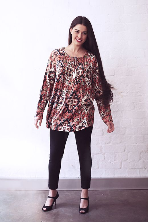 Tassel Tunic in Kilim http://cakeclothing.net/collections/winter-15/products/br-orange-kilim-1