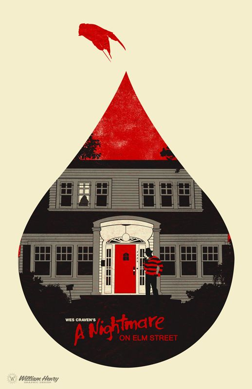 A Nightmare on Elm Street (1984) ~ Minimal Movie Poster by Bill Pyle ~ Horror Icons Series #amusementphile