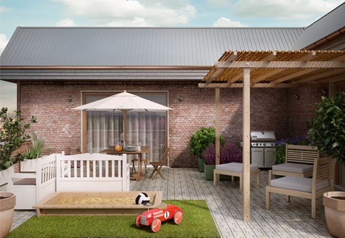Un terrazzo da vivere con la famiglia! Scopri come arredare il tuo terrazzo con spazi ben definiti per pranzare, riposare e divertirti con la famiglia: http://www.leroymerlin.it/idee-progetti/progetti-esterno/terrazzo-famiglia