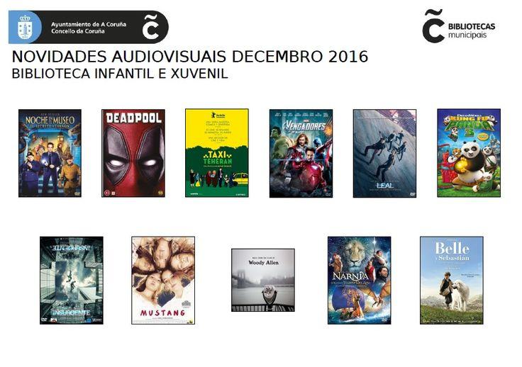 Novos fondos audiovisuais na Biblioteca Infantil e Xuvenil (Durán Loriga) para o mes de decembro do 2016. 2ª volta de novidades, esta vez para aproveitar aínda máis os días de Nadal.