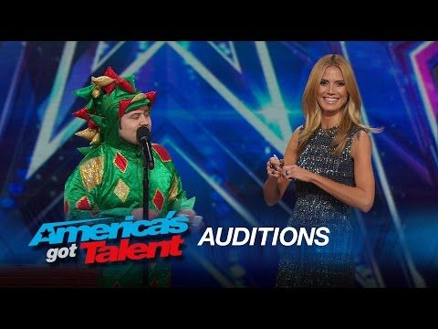 Piff the Magic Dragon: Heidi Klum Helps Comedic Magician in Dragon Suit - America's Got Talent 2015 - YouTube