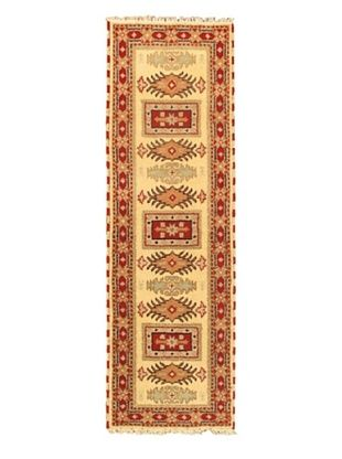 55% OFF Hand-Knotted Royal Kazak Wool Rug, Cream, 2' x 6' 7