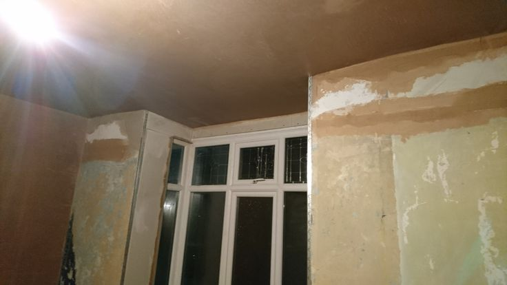 Beginning of plastering
