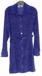 Monica Lewinsky's famous blue gap dress as it was entered as it was presented by Kenneth Starr's investigators during their investigation into the Clinton Presidency.