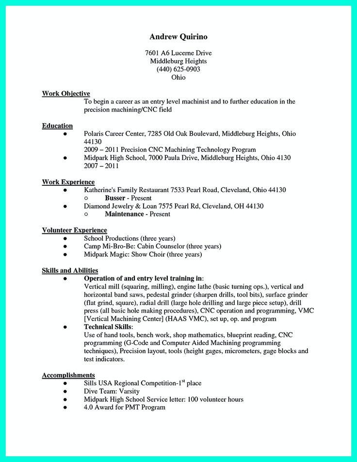 Die Besten 25+ Cnc Machinist Ideen Auf Pinterest Selbstgebaute   Machinist  Resume Objective  Cnc Machinist Resume