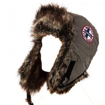 Зимняя шапка-ушанка LAPPI мех барсук верх-плащ.серая подкл.-флис XL