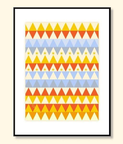 Geometrisches Poster Druck Kunstdruck Deko