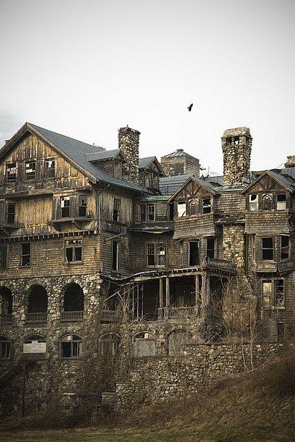 Abandoned multi level school