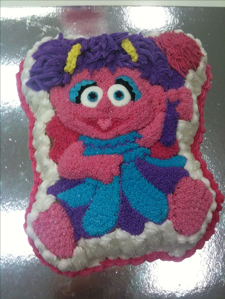 Abby Cadabby! Vanilla cake with buttercream. February 2011