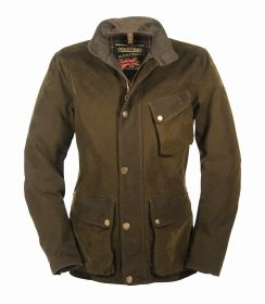 MATCHLESS - Mens Wax Jacket - Collier Jacket - Military Green