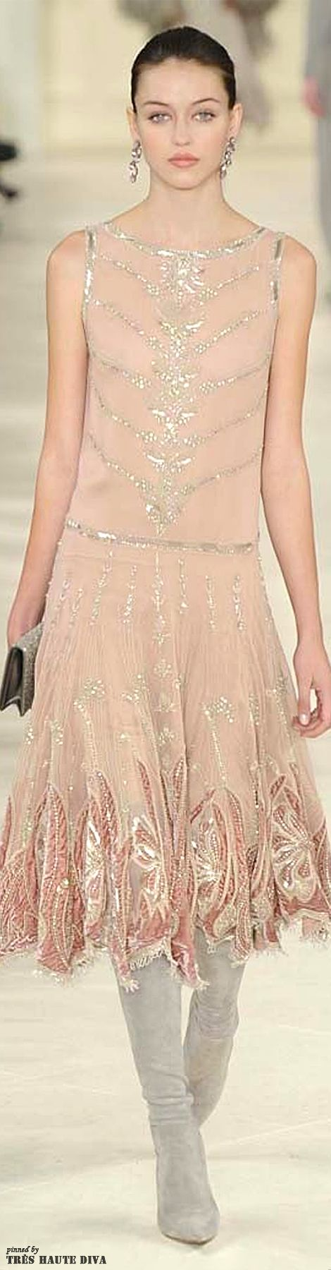 NYFW Ralph Lauren Fall/Winter 2014 Love this dress it's soooo beautiful!